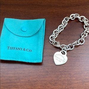 Tiffany & co chain bracelet return to 925 silver